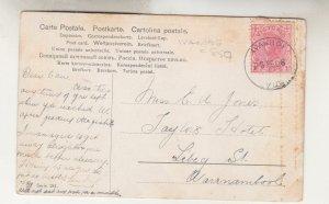 VICTORIA, IVANHOE cds., 1908 ppc. 1d. to Warrnambool.