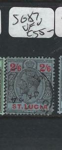 ST LUCIA  (P2705BB)  KGV  2/6    SG 87   VFU