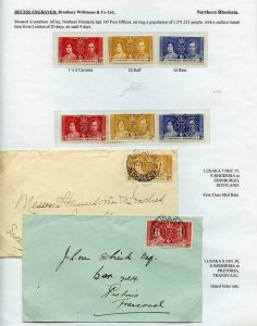 Northern Rhodesia 1937 Coronation Page