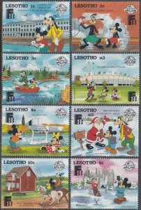 LESOTHO # 640-7 DISNEY STAMPS ISSUED for FINLAND INT'L STAMP EXHIBITION