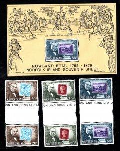 NORFOLK ISLAND  SC# 246-248 AND 248a  FVF/MNH