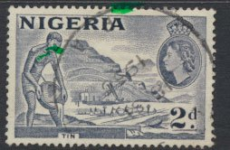 Nigeria  SG 72cd SC# 83 Used  QEII 1953  Variety Type A Tin Mining see scan