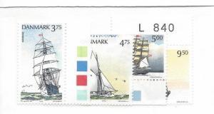 Denmark, 986-89, Training Ships Singles, **MNH**