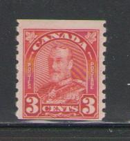 Canada Sc 183 1931 3 c red G V coil stamp mint