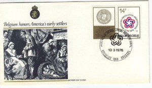 1976, Belgium: Honors America's Early Settlers, FDC (D6302)