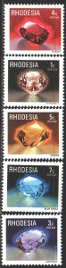 Rhodesia. 1978. 206-10 from the series. Minerals. MNH.