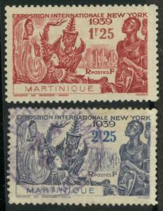 Martinique 186-187 Mint VF H (187 used)