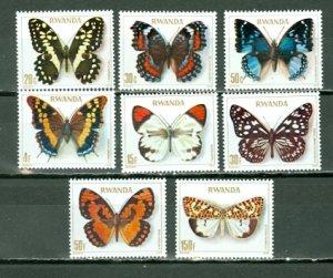 RWANDA 1979 BUTTERFLIES #905-912...SET...MNH...$15.00