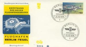 1974 Germany (Berlin) Berlin-Tegel Airport  9N349 FDC