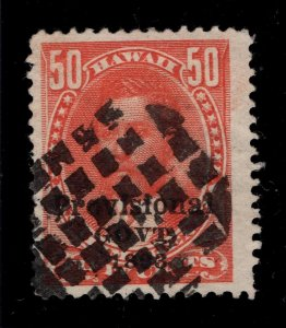 Hawaii #72 Red - Checkerboard Cancel - Clean Back