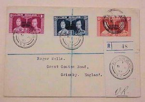 COOK ISLANDS FDC 937  PENRHYN JULY 31 REGISTERED  TO ENGLAND
