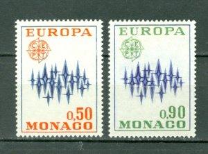 MONACO 1972 EUROPA #831-832...SET...MNH..$5.00