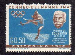 Paraguay 740 - Mintd-NH - P. Coubertin