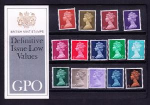 Great Britain P.O. Pack 1969 Definitives ½d to 1/9 SG CV ...