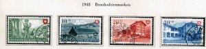 Switzerland Stamp 1948 Pro Patria USED STAMPS SET $12