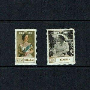 Bahamas: 1990, 90th Birthday of Queen Elizabeth the Queen Mother. MNH set