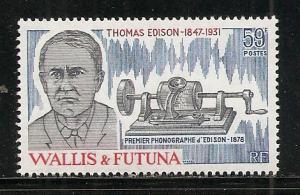 Wallis and Futuna Islands 273 1981 Edison single MNH