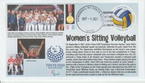 6° Cachets Tokyo 2020 Paralympics Gold Medal USA Women's Sitting Volleyball