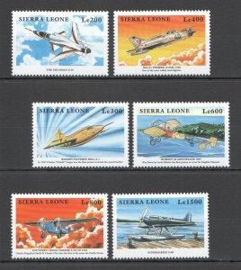 Z0267 SIERRA LEONE TRANSPORT AVIATION AIRPLANES AIRCRAFTS SET MNH