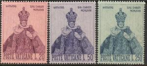 VATICAN 464-466, HOLY INFANT OF PRAGUE. MINT, NH. F-VF. (415)