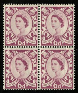 Queen Elizabeth II, 6D, Revenue, Plate Block MNH (T-5680)