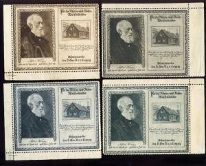 1921 German American Relief Children Rhineland Alfred Krupp 4 Poster Stamps