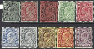 Turks and Caicos 1909 SC 13-22 Mint SCV$ 162.00 Set