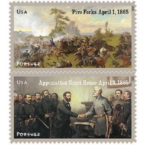 2015 49c Civil War 1865 Battle of Five Forks Appomattox Scott 4980-81 Mint VF NH