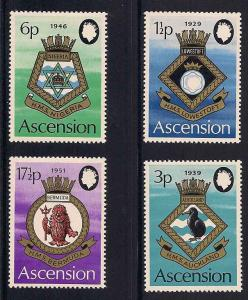 Ascension 156-159 Mint VF NH