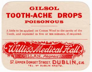 (I.B) Ireland Cinderella : Medicine Label (Tooth-Ache Drops)