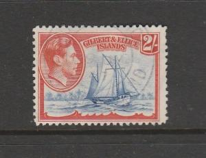 Gilbert & Ellice Islands 1939/55 2/- FU SG 52