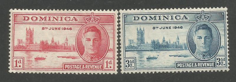 DOMINICA 112-3 MOG PEACE ISSUE Z6539-2