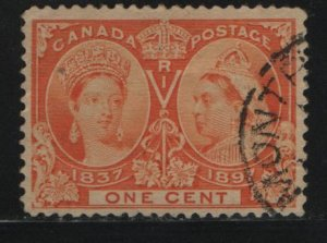Canada, 51, USED, 1897 Queen Victoria 1837 & 1897