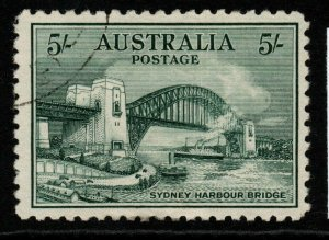 AUSTRALIA SG143 1932 5/= BLUE-GREEN FINE USED