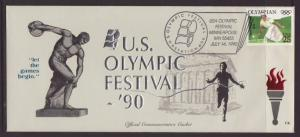 US Olympic Festival,Minneapolis,MN 1990 # 10 Cover