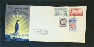 Ross Dependency 1957 Series First Day Cover (Light Edge Wear) - Z3197