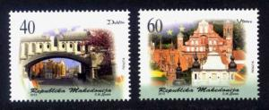 Macedonia Sc# 622-3 MNH European Capitals