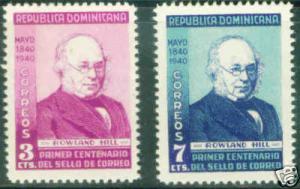 DOMINICAN REPUBLIC Scott 356-7 MH* 1940 Hill set