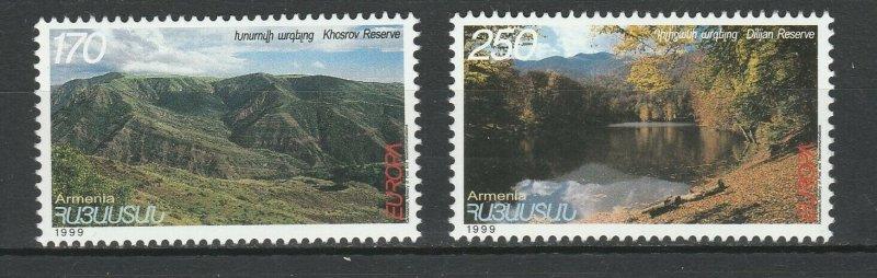 Armenia MNH 589-90 Nature Reserves & Parks Europa 1999
