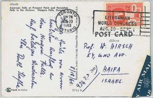CANADA -  POSTAL HISTORY:  POSTCARD with nice postmark: LITHUANIA WORLD CONGRESS