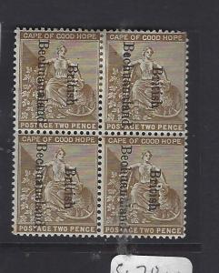 BECHUANALAND   (P2110B)  ON CAPE  2D  SG 39  BL OF 4, 2  MNH