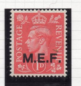 Middle East Forces 1943 Early Issue Fine Mint Hinged Optd MEF 1d. 111644