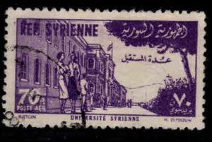 Syria Scott C182 Used 1954 airmail stamp