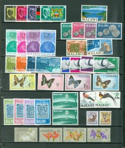 MALAWI NICE LOT of 86 incl 17 SETS...MNH...CV $93.00