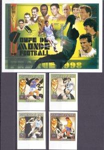 Mali. 1996. 1688B-91B BL96B A95B-D95B. Soccer world cup. MNH.