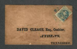 Nashville TN CSA Sc#1 On US Sc#u10 Planter's Bank Embossed Flap