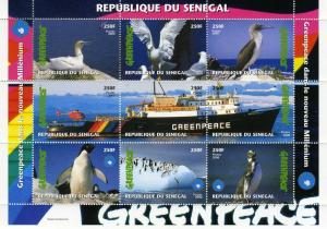 Senegal 2000 Greenpeace BIRDS PENGUINS Sheet Perforated Mint (NH)