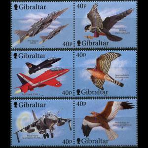 GIBRALTAR 2001 - Scott# 887-9 Planes Set of 6 NH