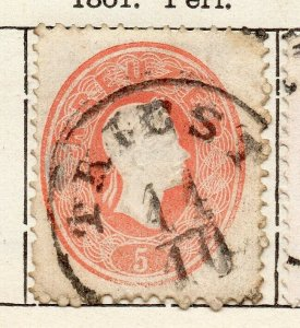 Austria 1861 Early Issue Fine Used 5kr. NW-11526