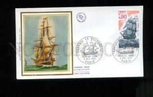 162793 FRANCE 1975 Sailboats Ships FREGATE MELPOMENE FDC SILK